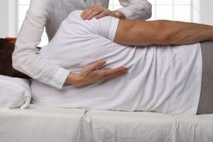 Spinal traction treatment